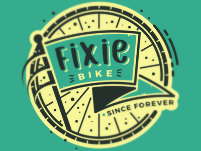 Fixie Bike illustration vector society6 bike fixie tire