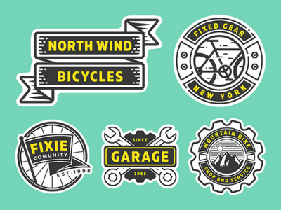 free bike shop logo part 1 sticker emblem vector fixedgear bicycle bike badge logo freebie free