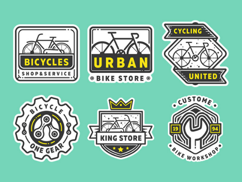 Free bike shop logo part 2 eps ai vector sticker fixedgear bicycle bike badge logo freebie free