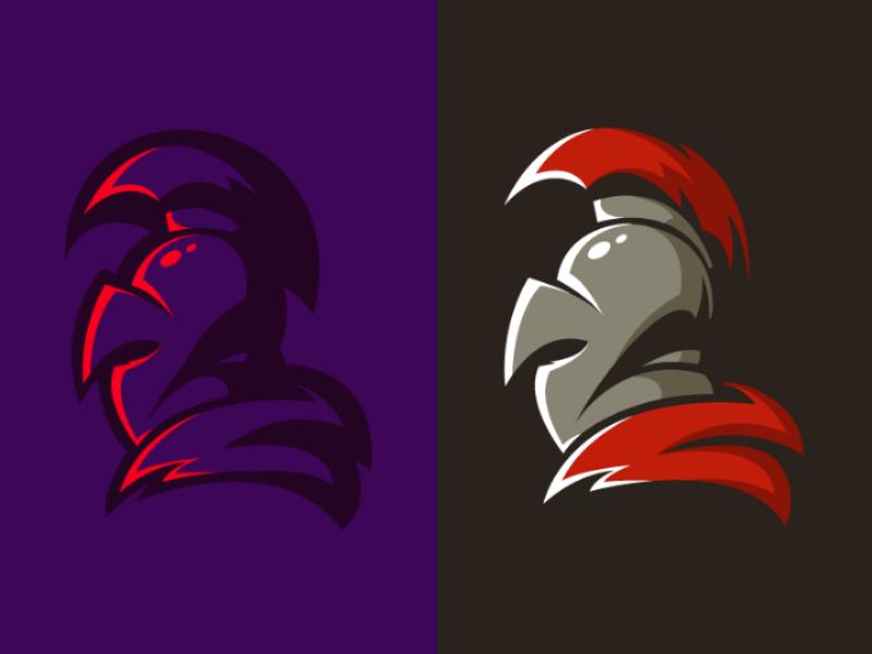 Spartan Logo Mascot warrior soldier vector illustration legion spartan mascot badge logo esport
