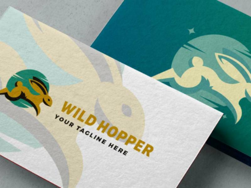 Rabbit Logo Template psd eps ai illustration vector bunny rabbit template logo freebie free