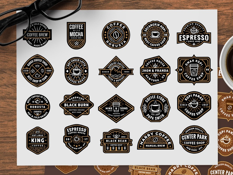 Free Coffee Shop Logos (part 2) shop coffee badge eps ai vector logo freebie free