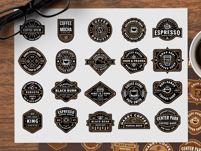 Free Coffee Shop Logos (part 2) shop coffee badge eps ai vector logo freebie free