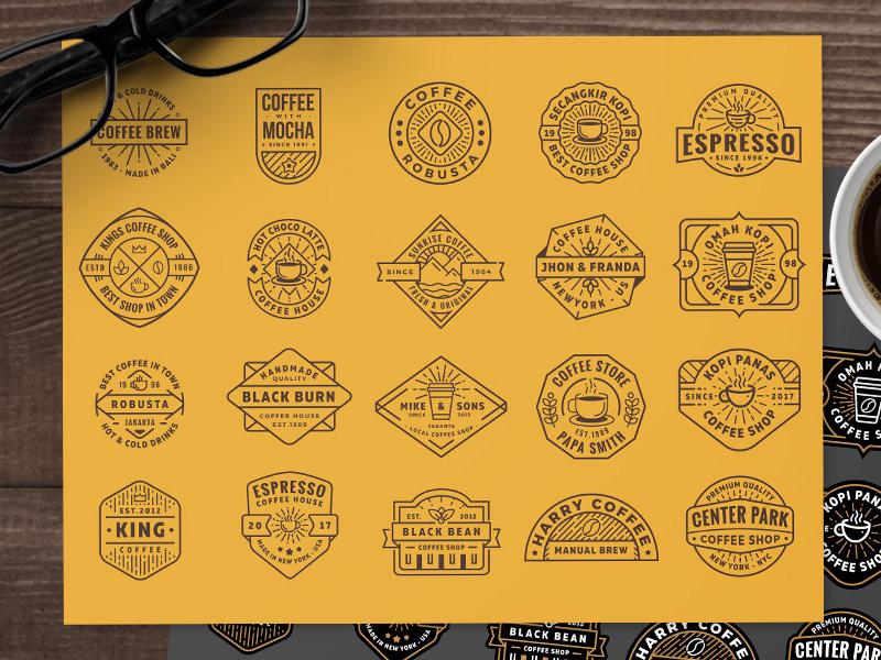 Free Coffee Shop Logo (part 3) shop coffee template eps ai badge vector free logo freebie