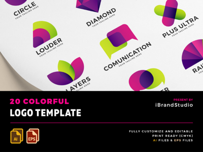 20 Colorful Logo Template freebies template logo colorful free