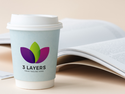 3 LAYERS freebies template logo colorful free