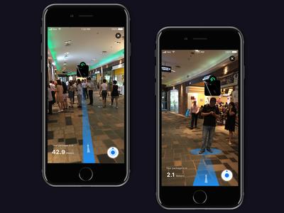 AR people finder app mobile app ios future ui augmentedreality reality augmented ar arkit