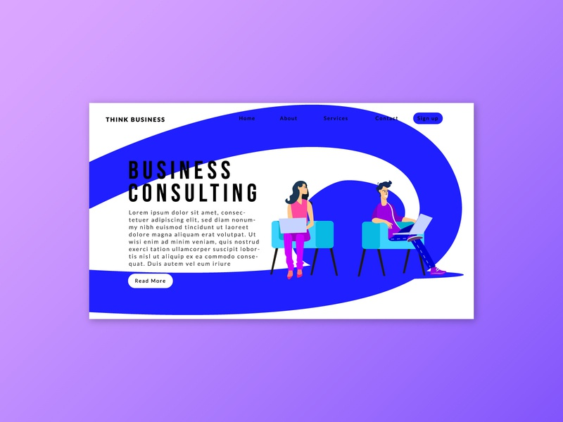 FREE landing page with business character-freebie minimal design minimal website typogaphy adobe character characters illustration branding uidesign uiux ui homepage webdesign free landing page freebies freebie free business landing page business landingpage