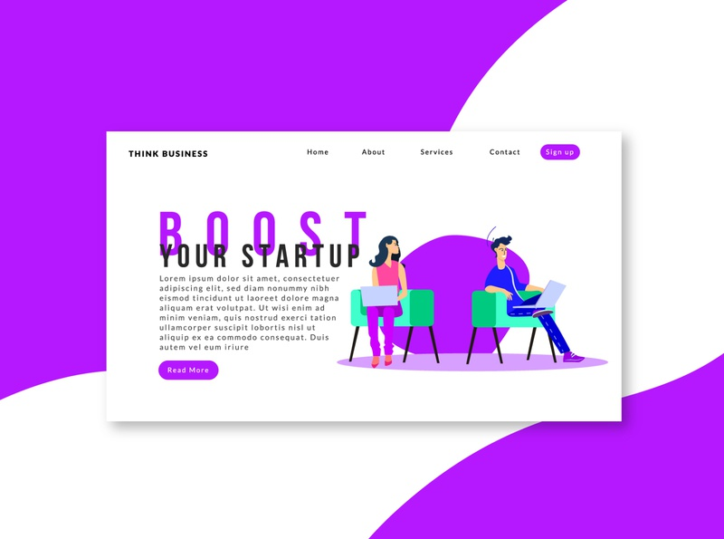 Landing page-business website/uidesign vector adobe landing page design design website concept ui ux uidesign typogaphy minimal website minimalist landing page landing illustrator illustration home page character design website business branding