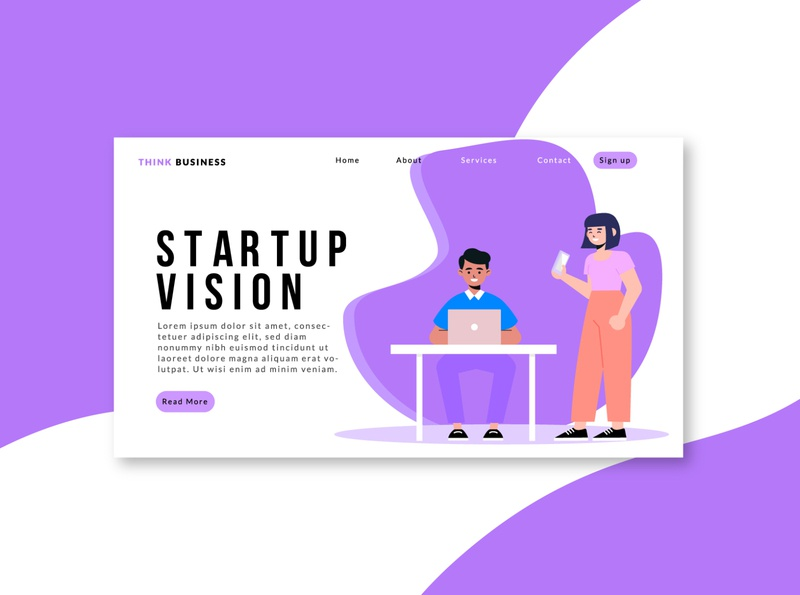 Landing page-business website/uidesign website concept website vector ui ux uidesign typogaphy minimal website minimalist landing page design landing page landing illustrator illustration home page design character design business branding adobe