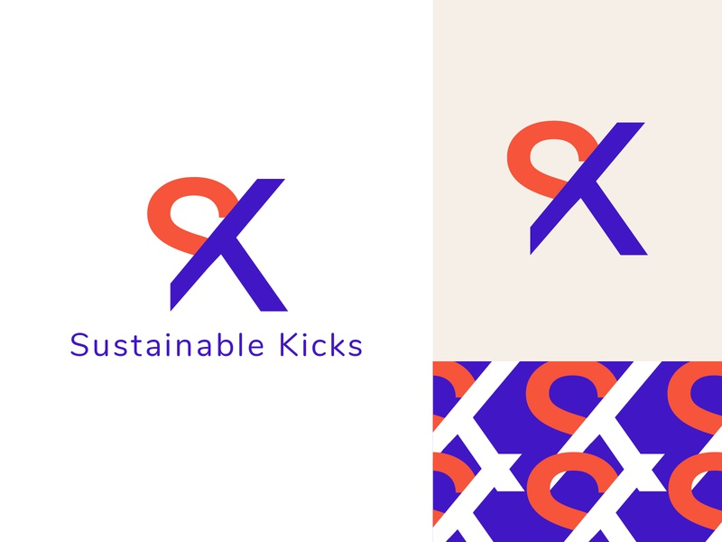 Sustainable Kicks logo design mark multimedia logo design logo inspiration graphicdesign logotype minimal brandidentity brand icon adobe logos identity design branding logo