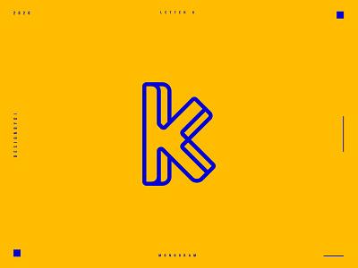Letter K monogram logo design. graphicdesign alphabet 2d logo designer graphic designer minimalist logo modern logotype typography letters minimal identity branding logo monogram lettermark k logo