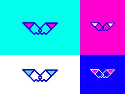Lettermark V Color Variations icon 2d logo designer graphic designer minimalist logo modern logotype typography letters minimal identity branding brand logo monogram lettermark v logo letter v logo v letter v