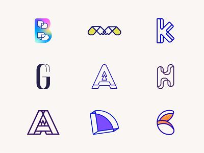 My Top Lettermark Logos 2020 logo designer letter g letter m a logo alphabet logotype typography letters minimal brand identity logo monogram letter head letter h letter a lettering lettermark letter b