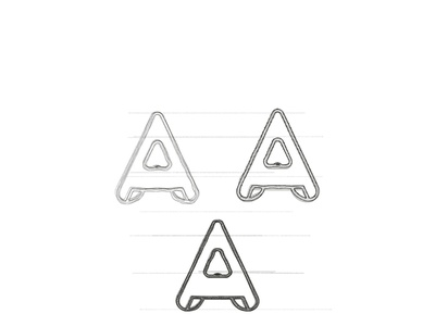 Lettermark A sketches- A monogram logo design identity logos adobe graphicdesign alphabet icon 2d lineart logotype typography letters minimal brand identity logo monogram lettermark a logo letter a logo a letter a