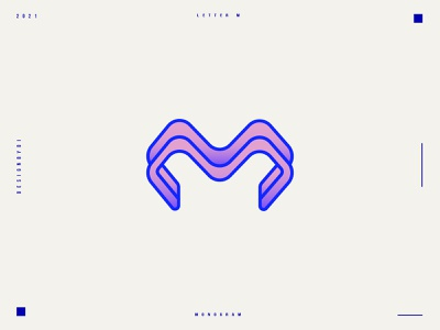 Lettermark M - M monogram logo design 2d logo designer graphic designer minimalist logo modern logotype typography letters minimal identity branding brand logo monogram lettermark m letters m logo letter m logo m letter m