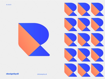 R Lettermark Logo r logo r lettermark r identity logos graphicdesign alphabet icon modern logo logotype typography letters minimal brand identity logo monogram lettermark