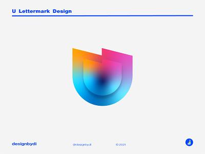 Lettermark U - U monogram logo design colorful logo best logo design lettermark monogram logo brand identity minimal letters typography j logo logotype modern logo icon alphabet graphicdesign logos identity u u lettermark u logo