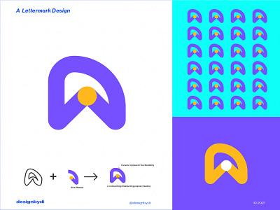 A Lettermark Logo colorful logo best logo design lettermark monogram logo brand identity minimal letters typography logotype modern logo icon alphabet graphicdesign logos identity letter a logo a a lettermark a logo