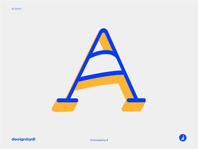 A Lettermark concept colorful logo best logo design lettermark monogram logo brand identity minimal letters typography logotype modern logo icon alphabet graphicdesign logos identity letter a logo a a lettermark a logo