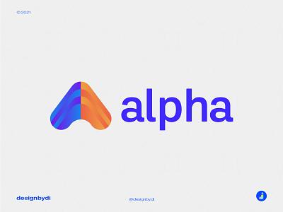 Alpha logo design - A Lettermark (Unused) a lettermark a logo a letter a lettermark monogram logo brand identity minimal letters typography logotype modern logo icon alphabet graphicdesign logos identity expert logo professional logo