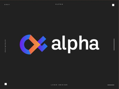 logo design concept for Alpha - (Unused) best logo best designer top logo logo minimal identity icon typography 2d graphicdesign alphabet logotype monogram lettermark a lettermark letter letters a letter a logo modern logo