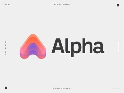 Alpha logo design best logo
