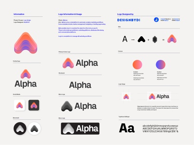 Alpha Brand identity Guideline - Lettermark A Logo best logo