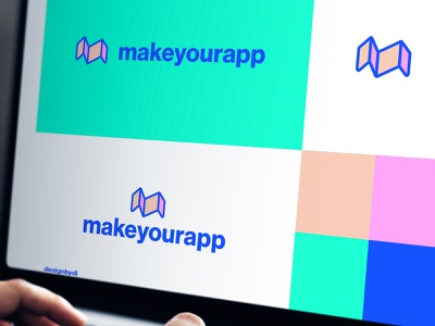 Makeyourapp Logo Design brand identity branding tech logo top logo best designer lettermark monogram app modern logo m logo letter m m graphicdesign logos typography icon identity minimal logo