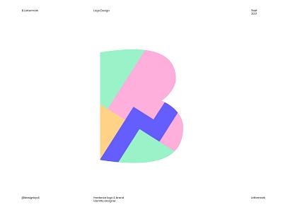 B Logo Concept colorful logo a b c d e f g h i j k l m n b logo branding letter b b adobe logotype alphabet 2d ui typography logos icon identity minimal brand identity monogram lettermark logo