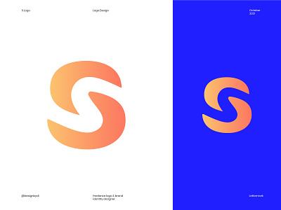 S Logo design concept negative space s logo letter s s top logos best logo designer monogram mark lettermark brand identity branding graphicdesign logos icon minimal identity logo