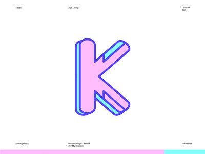K Logo design - k Lettermark k logo k lettermark k letter k logo alphabet modern logo icon logotype identity letters typography brand identity logos logo monogram lettermark minimal best logo design colorful logo