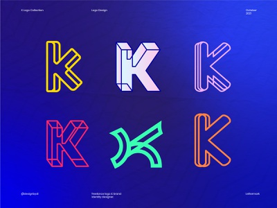 K Logomark Collection 3d logos brand identity branding minimal logo alphabet k logo letter k k logo collection logofolio creative logos line art graphicdesign typography logos icon identity logo