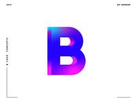 Letter B logo design concept 02