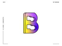 Letter B logo design concept 07