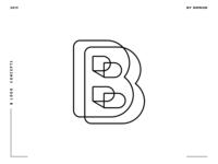 Letter B logo design concept 08