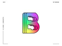 Letter B logo design concept 09