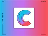 Letter C logo design concept 03