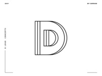Letter D logo design concept 01