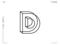 Letter D logo design concept 03