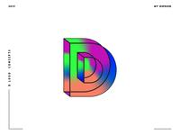 Letter D logo design concept 07