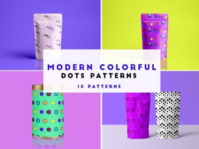 modern colorful dots patterns