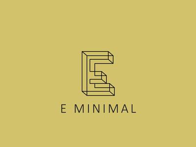 Letter E MINIMAL logo design concept 02