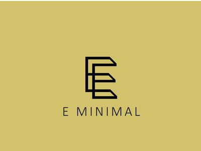 Letter E MINIMAL logo design concept 04