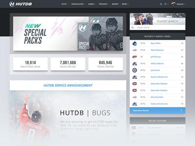 HUTDB | NHL Game Resource