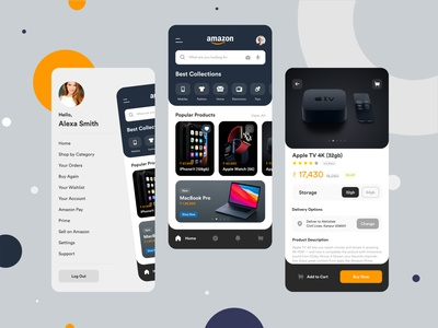 Amazon iOS App Redesign uidesign shopping cart shopping app shopping buy creative clean minimalist minimal iphonex ios app mobile app ecommerce design ecommerce app app amazon app redesign logo ios amazon