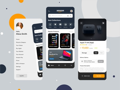 Amazon iOS App Redesign uidesign shopping cart shopping app shopping buy creative clean minimalist minimal iphonex ios app mobile app ecommerce design ecommerce app app amazon app redesign logo ios amazon