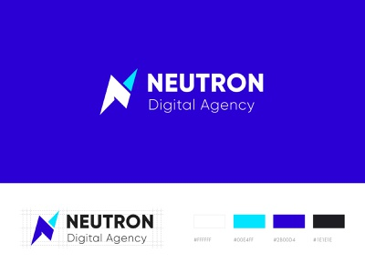 Logo Design for Neutron Digital vector agency design studio digital mobile app logo design neutron digital agency company profile inspiration design branding identity brand web styleguide illustration modern resources abstract mark