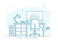 Work Space - Quick Illustration