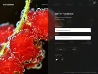 FruitBasket Header Design - Landing Page